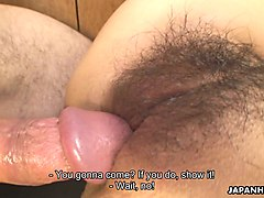 delicious asian chick ryo sasaki gets her hairy cunt rammed