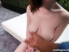 perfect natural tits on this amateur fucking her 1st bbc