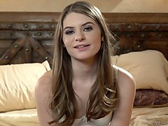 hot like fire babe kimmy granger gives an interview after hot girl on girl scene