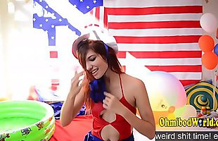 Camgirl Celebrating America