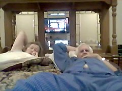 grandma suck grandpa on webcam