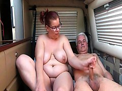 Big breasted mature wife takes a cock in her aching pussy