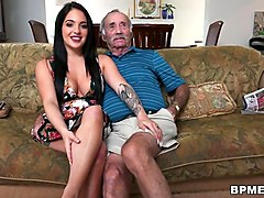 aria rose sucks old man