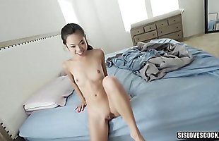 Petite Asian Stepsister Gets Her Brother To Do Her Math Homework for Sex