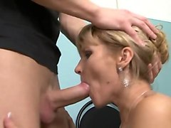 horny mature ukrainian slut gets fucked by young russian guy