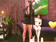 Horny pornstars Alex Foxe and Summer Cummings in hottest dildos/toys, hairy porn scene