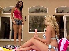 Horny pornstars Alana Evans and Daisy Marie in exotic latina, dildos/toys sex scene