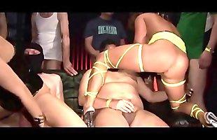Kinky! 2 Chicks Havy Rough Fuck 15 GUYS!