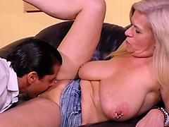 mature harlot with big saggy tits maria montana gets her muff slammed