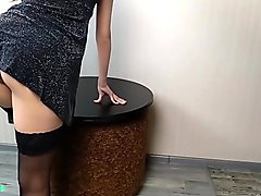 Step brother seduces and fucks drunk step sister after party