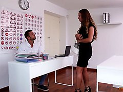 spoiled teen taylor sands gets intimate with handsome eye doctor