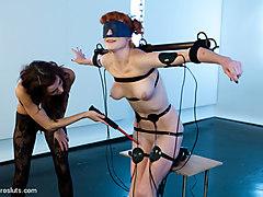 Gia DiMarco & Audrey Hollander in Warming Up Audrey Hollander - Electrosluts