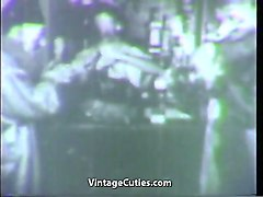 costume party becomes a swinger orgy (1940s vintage)