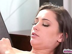 Natasha Nice gave Georgia an intense leg shaking orgasm in a marriage counselling session