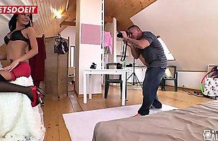 LETSDOEIT - Pervert Photographer Seduces a Stunning Brunette Teen