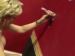 lady sonja sucking big dick on the glory hole