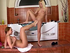 footing, lesbian, blonde, hd, fetish