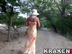 hot milf in an outdoor sex video