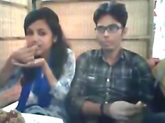 Bangladeshi bf  gf in restaurant 4-full