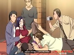 hentai - newly married wife pays off her debts by getting gangbanged