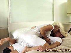 mormon milf gets cumshot