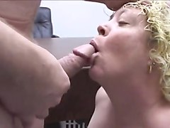 Fat mature whore anal fucked