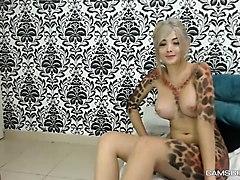 webcam, blonde, tattooed, amateur, amateurs