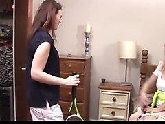 Mature lesbian teacher seduces schoolgirl student
