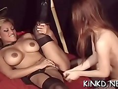 Lesbian love tunnels nail every other so much in lesdom videos