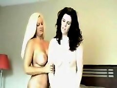 Horny Amateur movie with Blonde, Brunette scenes