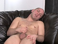 this bald dude loves touching his private parts for your viewing pleasure