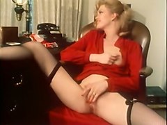 blonde lady watches her bestfriend having sex and masturbates
