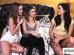 lesbian teena melissa, kristen and kimmy in a hot threesome