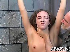 Sex appeal bimbo is rubbing her perfectly juice honey pot
