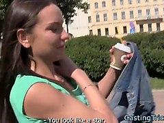 alluring eurobabe fucked at casting