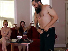 A MILF and Her Husband Play a Stripping Game with Friend