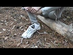 cumshot soles in the woods