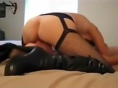 Bright thin milf enjoys hard dark penis in her wet