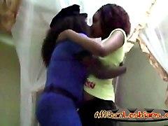 horny ebony lesbians sharing their lust
