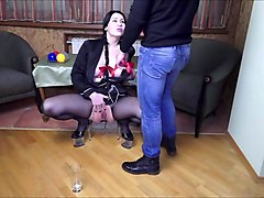deepthroat, pissing, gaping and prolapse for dirty whore