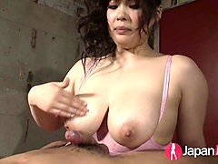 japanese, big, boob, handjob, asian