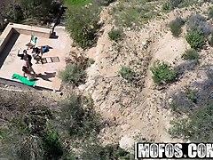 mofos - drone hunter - danica dillon - spying