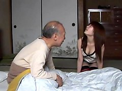saki tsuji: taking care of old man