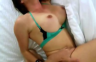Harsh sex with busty brunette while parents are not at home