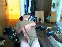 Disabled Man Rubs His Cock An Dirty Talks