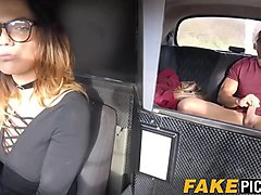 taxi driving slut gets pounded hard in her own cab