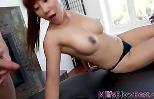Asian milf jizz faced