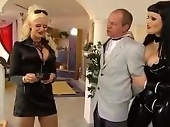 Stella german cruel mistress uses her slave hard