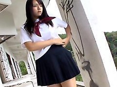Ai shinozaki wearing a school uniform
