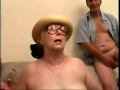mature and chubby white woman gangbanged on the couch